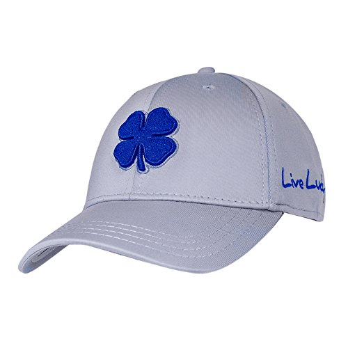 Black Clover Mens Premium Clover #92 Royal/White/Grey Large/X-Large Fitted Hat - 646819964630 Black Royal Fitted Hats