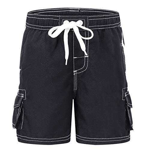 - Akula Little Boys Swim Trunks Swimsuits Quick Dry Soft Beach Surf Shorts Kids Summer Solid Bathing Suits Black Size 4T