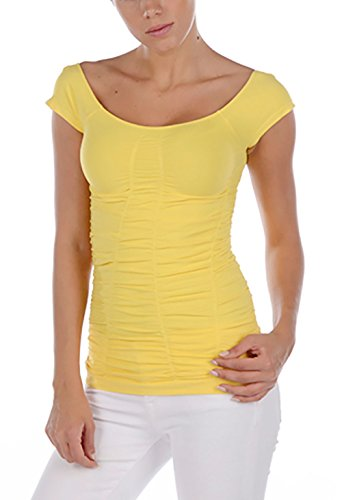 Last Tango All Over Rouched Cap Sleeve (M/L, Daisy)