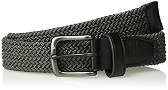 NIKE Boys' Big Stretch Woven Belt, Dark Grey, S