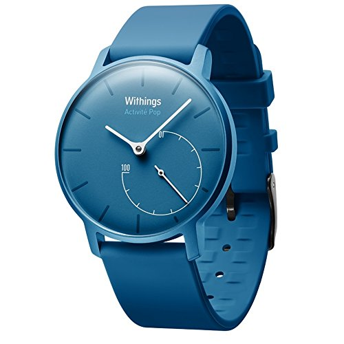 Withings Activite Pop Activity and Fitness Tracker + Sleep Monitor Lightweight Watch, Azure (Certified Refurbished) by Withings