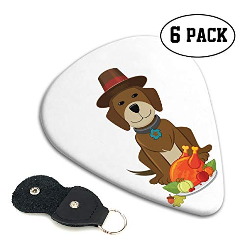 (Nice Music Chihuahua Dog Thanksgiving Turkey Ultra Thin 0.46 Med 0.71 Thick 0.96mm 4 Pieces Each Base Prime Celluloid Ivory Jazz Mandolin Bass Ukelele Plectrum Guitar Pick Pouch Display )