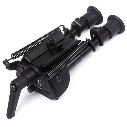6-9 Inch Tactical/ Sniper Profile Adjustable Height Swivel Style Bipod Tilting with Built in Podlock