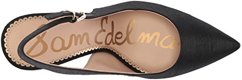 Sam Edelman Women's Hastings Sling Back Pumps Black (Black Silk Dupioni) fr0VixDB