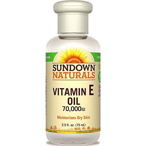 Sundown Naturals Vitamin E Oil 70,000 IU, 2.5 Fluid Ounce (Value Pack of 4)