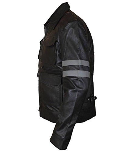 Black Kennedy F Leather Resident amp;h Leon Geinuine Men's Evil Jacket Ugz0Og
