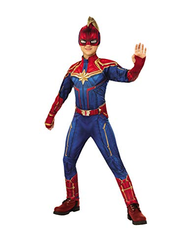 Rubie's Captain Marvel Children's Deluxe Hero Suit, Small 700597