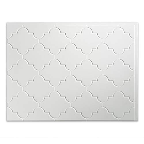(Fasade Easy Installation Monaco Gloss White Backsplash Panel for Kitchen and Bathrooms (18