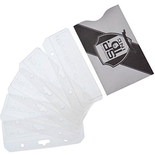 Frosted Rigid Plastic Horizontal Half Card Holder by Specialist ID (5 Pack plus Bonus)