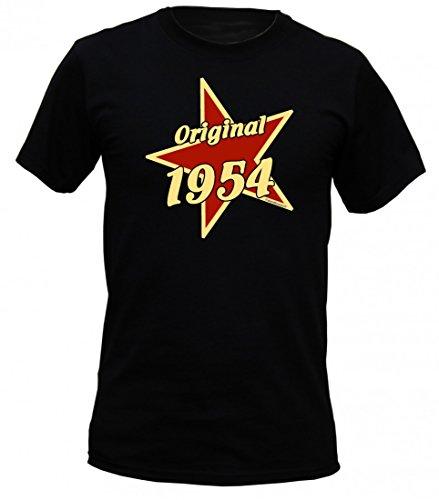 Birthday Shirt - Original 1954 - Lustiges T-Shirt als Geschenk zum Geburtstag - Schwarz