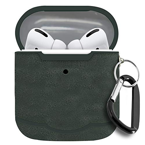 Airpods Pro Case Cover, Impact Resistant , Built In Cap, Fully Protective 2019, Suede Grey