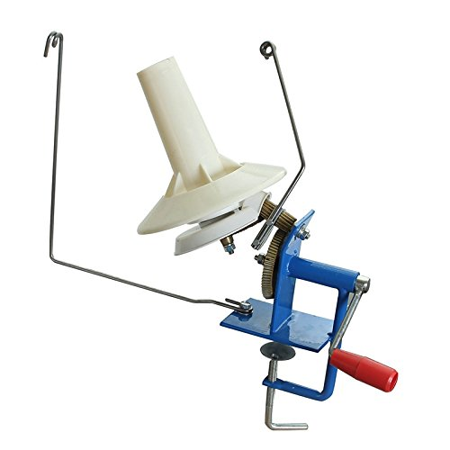 ShineBear Large Metal Yarn Fiber String Ball Wool Winder Holder Winder Fiber Hand Operated Cable Winder Knitting Machine 10oz Heavy Duty