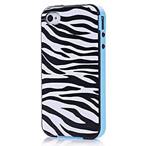 LIMME Zebra Hybrid RuLIMMEed Pattern TPU + PC 2-in-1 Hard Case Cover for Apple iPhone 4/4S