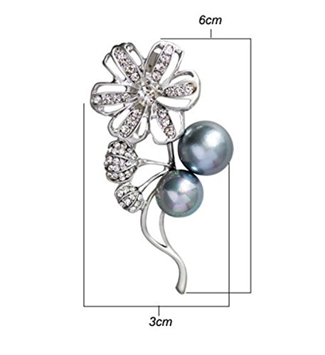 Simple Two Person Costumes (Micrkrowen High-Grade Simple Two Pearl Flowers Brooch)