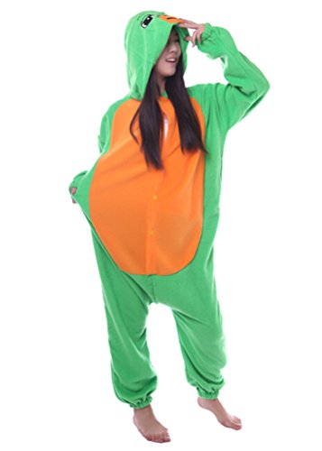 Honeystore Unisex Adult New Animal Cosplay Sea Turtle Costumes Pajamas M -
