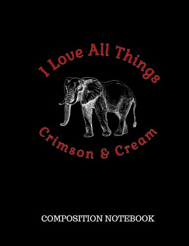 - I Love All Things Crimson & Cream Composition Notebook: Delta Sigma Theta Gift Red Writing Tablet Diary Journal - Home School Office Student Teacher - 100 Pages - Wide Ruled - 7.44