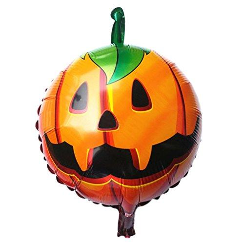 LOVELYIVA NEW Halloween pumpkin head Decorative Foil Balloons (Skeleton Hoodie Teen Costume)