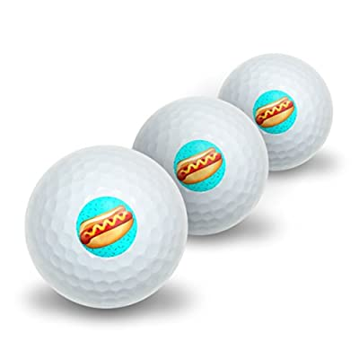 Hot Dog of Awesomeness Novelty Golf Balls 3 Pack