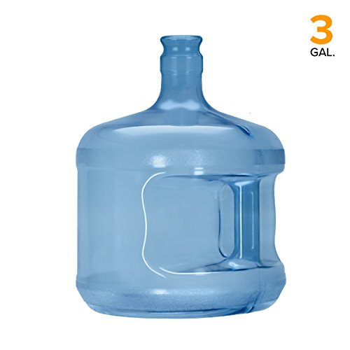Blue Polycarbonate Water Bottle - 3 Gallon Polycarbonate Plastic Crown Cap Water Bottle Container (Made in USA)