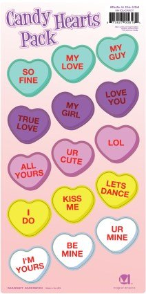 Candy Magnet (Candy Hearts Magnet Pack)
