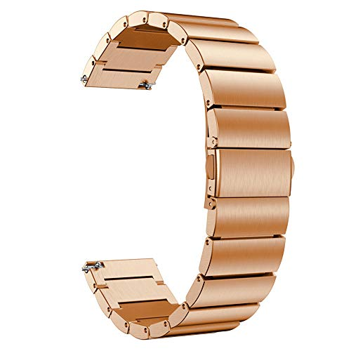 - Insaneness for Samsung Galaxy Watch 42mm Stainless Steel Watch Band Replacement Band (Rose Gold)