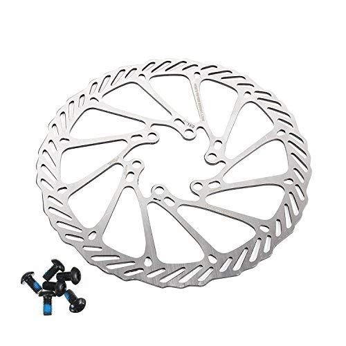 BlueSunshine Cycling Bicycle Bike Brake Disc Stainless Steel Rotors 160mm G3 with Bolts (1 PCS Bike Brake Rotors)