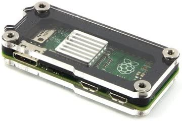 Zebra Zero Heatsink Case in Black Ice for Raspberry Pi Zero 1.3 and Wireless by C4Labs