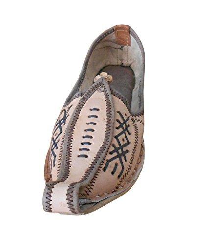 chaussures kalra de indien Creations Cuir Casual hommes traditionnel Camel en twwBTFq
