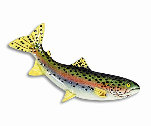 LX Hand Painted Rainbow Trout Fish Refrigerator Magnet