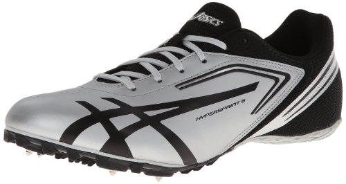 Asics Mens Hypersprint 5 Track Shoe Quicksilver / Nero