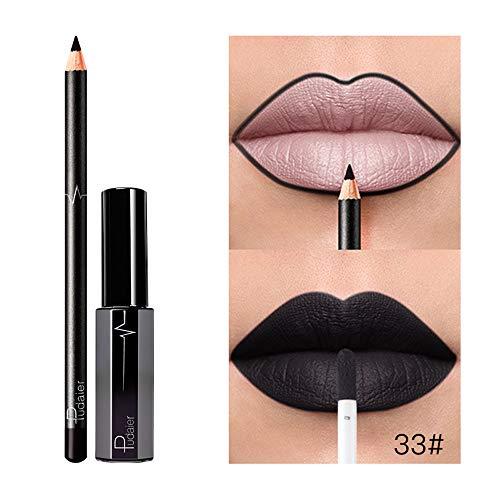 Cosmétiques Maquillage Durée 06 De D À Lèvres Liquide Rouge Set Morchan Mat Longue Imperméable qXwEt5g