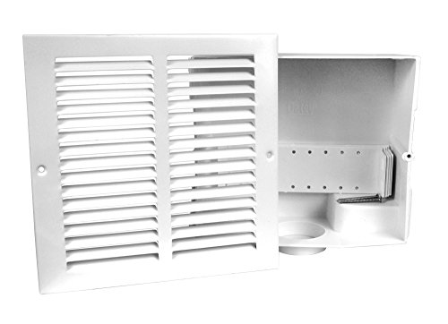 Oatey 39010 Sure-Vent Wall Box with Metal Grille Faceplate for 1-1/2