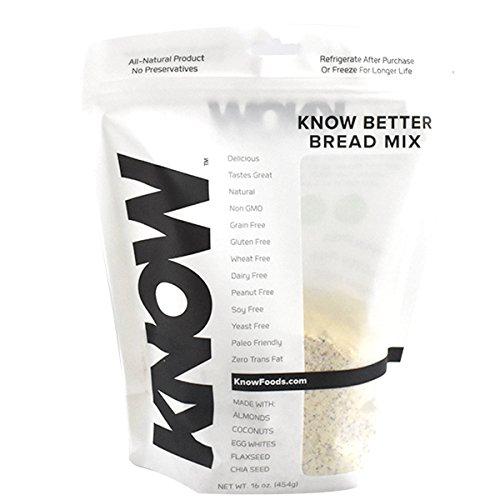 KNOW Foods Gluten Free Bread Mix, 0.5 Pound
