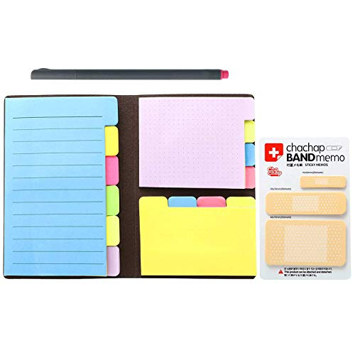 SanSiDo Colored Divider Sticky Notes Set Bundle Prioritize with Color, 60 Ruled (4x6), 40 Dotted (4x3), 40 Blank (4x2.6) Self-Stick Pads with One Fineliner Color Pen and Extra 60 Tab Dotted Notes - One Color Desk Pad