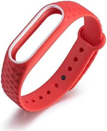 UKCOCO Fashion lichtgewicht verstelbare stijlvolle duurzame tweekleurige siliconen polsband vervangende armband voor Xiaomi Mi Band 2