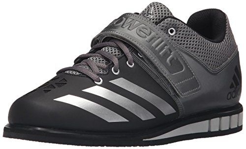 adidas Rendimiento Hombre Powerlift. 3 cross-trainer Shoe Black/Metallic Silver/Neo Iron Metallic Fabric