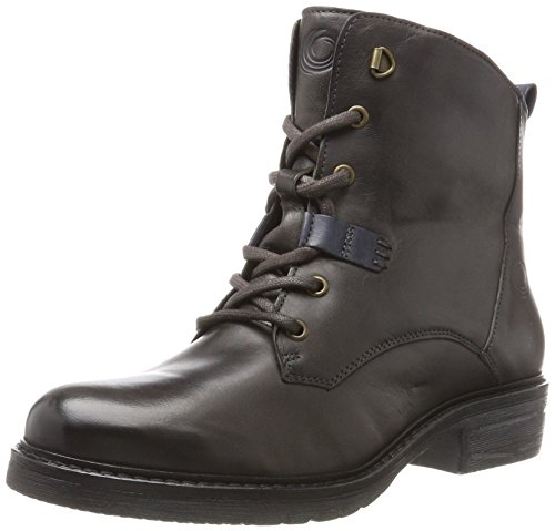 Be Natural Damen 25202 Combat Boots Grau (grafite)
