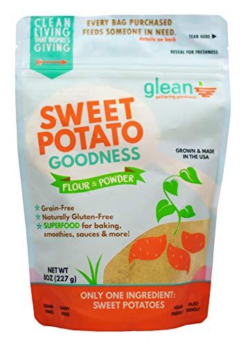 Glean Sweet Potato Goodness | Sweet Potato Flour and Super Food Powder | Paleo, Vegan, No Added Sugar | 8 oz.