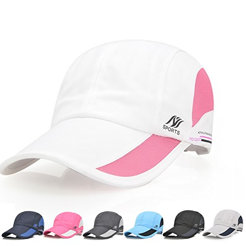 Ball White Womens T-shirt - AUOON Sport Cap Summer Quick Drying Sun Hat UV Protection Outdoor Cap for Men, Women