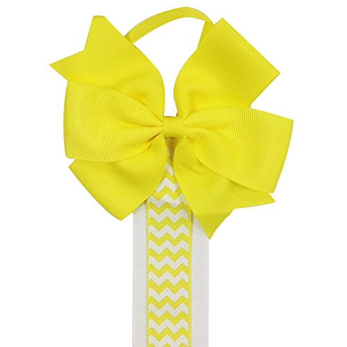 Wrapables Hair Holder Yellow Chevron