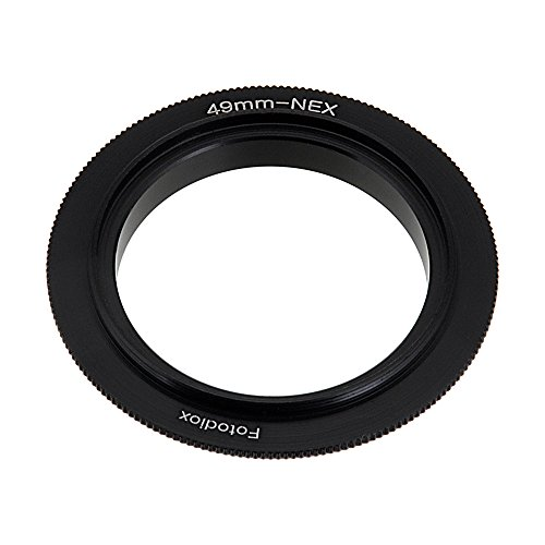 Fotodiox 49mm Filter Thread Macro Reverse Mount Adapter Ring for Sony E-Series Camera Fits Sony