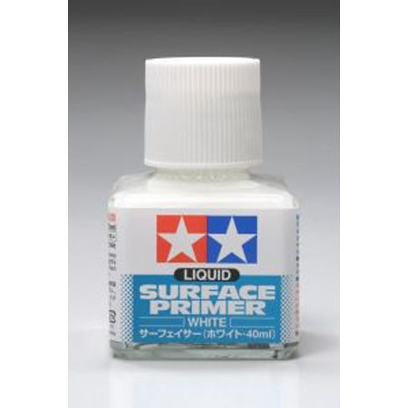 Tamiya Surface Primer - Tamiya America, Inc Wht Liquid