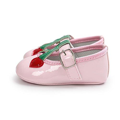 Pueri Rojo Zapatos de bebé Sandalias de los bebés Zapatos infantiles Diseño agradable Ligero y cómodo rosado