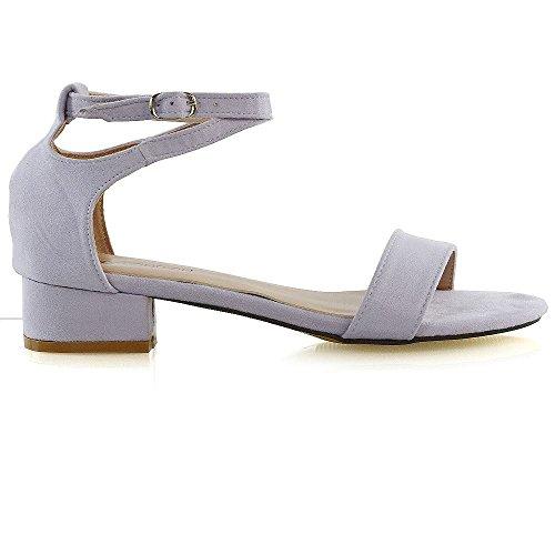Basso Lilla Ladies Shoes Open Sandali 8 Essex Cinturino 3 Alla Tacco Toe Strappy Taglia Womens Glam Caviglia Con YwqYWxRSfT