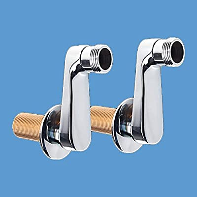 """Swing Arm Coupler Chrome Plated Brass Wall Mount Tub Repair Replacement Adjust Center Spreads From 2-1/4"""" To 11"""" Includes Rubber Gasket, Washer And 2"""" Flange"""