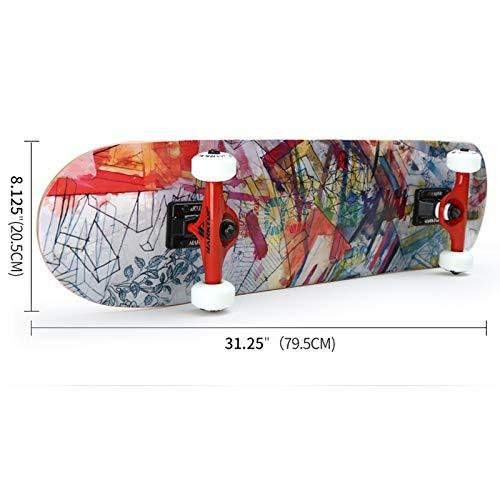Hb Maple Skateboard, Skateboard, Skateboard, Professionelles Skateboard Vierrädiger Roller Double-Up Skateboard Erwachsenes Kurzbrett Skateboard 79.5cm (Farbe   C) B07NTNGR5X Skateboards Hervorragende Funktion 0c5e49