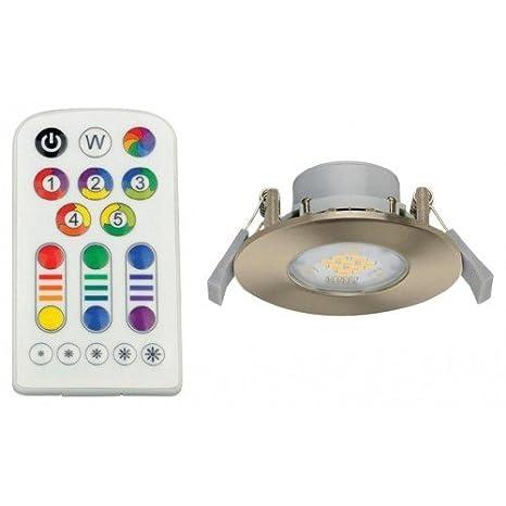 Lámpara empotrable LED con mando a distancia y cambio de color Jedi Integra aluminio 3 in1 345lm Bombilla: Amazon.es: Iluminación