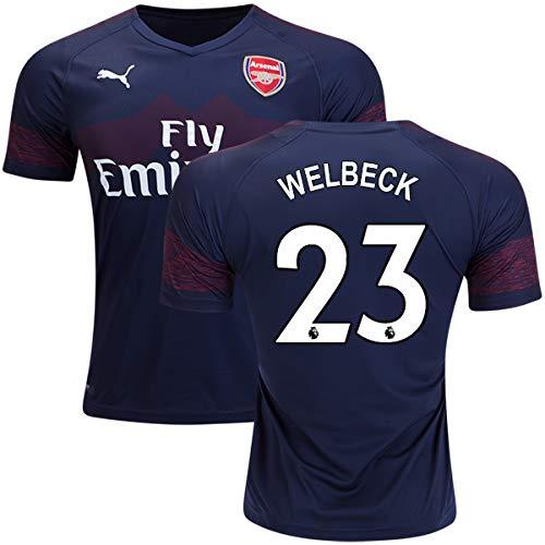 運賃傾向がある近々サッカーArsenal(アーセナル)2018-2019アウェイ半袖ユニフォーム #23 Danny Welbeck