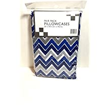 Pair Pack Pillowcases (blue zigzag)