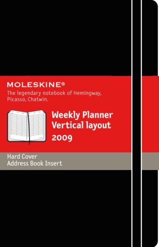 Moleskine Weekly Planner 2009 Vertical 12 Months Hard Black Cover Pocket